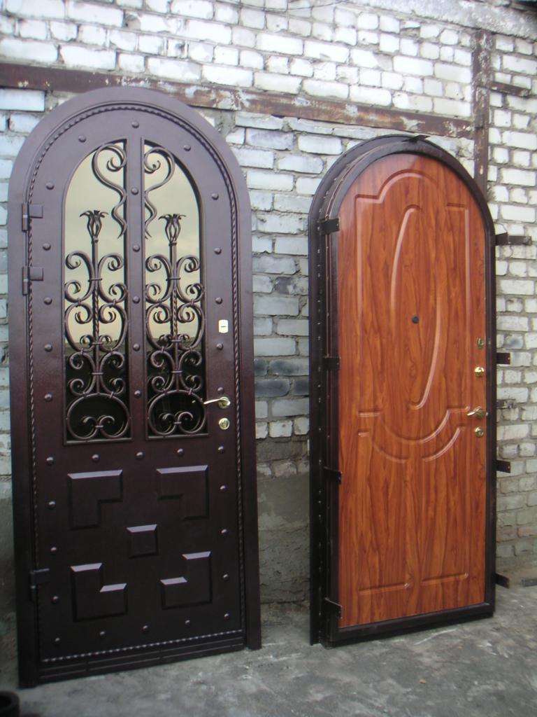 арочные железные двери на заказ